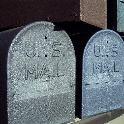 Metallene Postkästen aus den USA